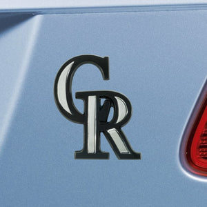 "MLB - Colorado Rockies Emblem - Chrome 3"" x 3.2"""