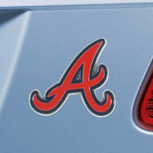 "MLB - Atlanta Braves Emblem - Color 3"" x 3.2"""
