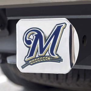 "MLB - Milwaukee Brewers Hitch Cover 3.4"" x 4"""