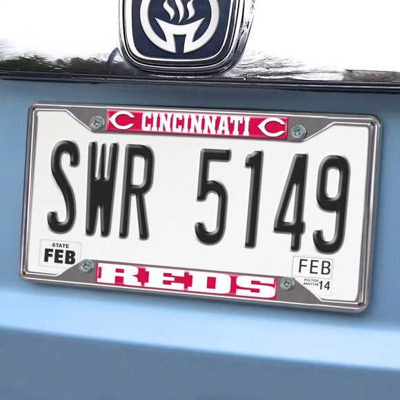 "MLB - Cincinnati Reds License Plate Frame 6.25"" x 12.25"""