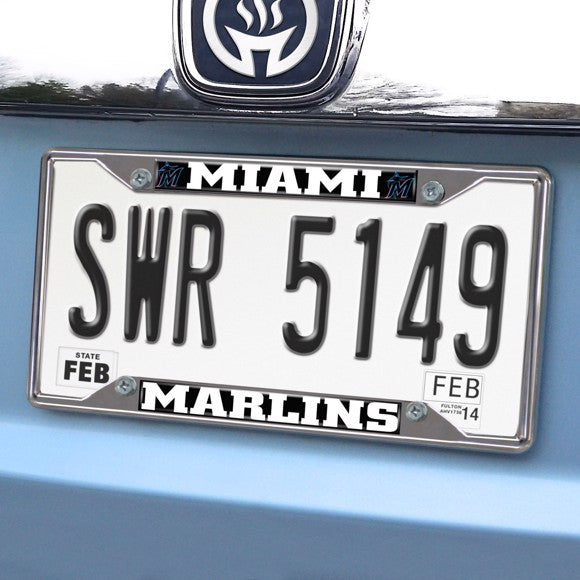 "MLB - Miami Marlins License Plate Frame 6.25"" x 12.25"""