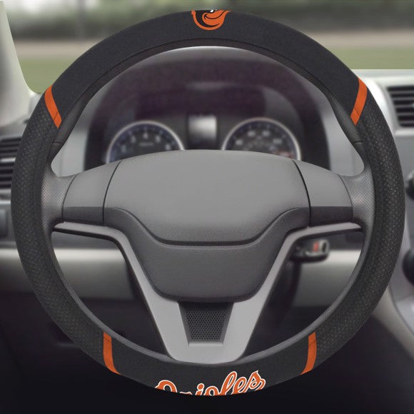 "MLB - Baltimore Orioles Steering Wheel Cover 15"" x 15"""