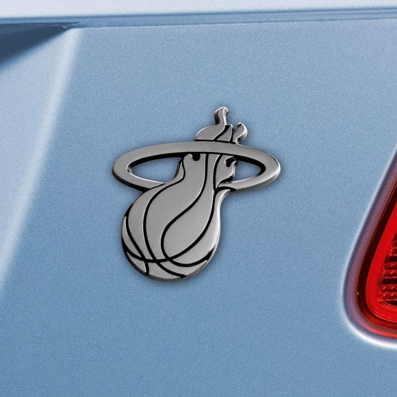 "NBA - Miami Heat Emblem - Chrome 3.2"" x 3"""