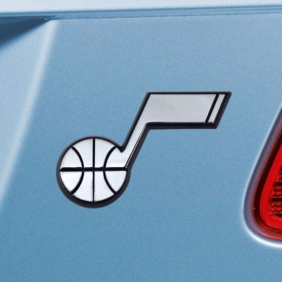 "NBA - Utah Jazz Emblem - Chrome 2"" x 3.2"""