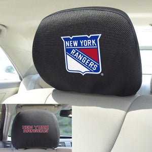 "NHL - New York Rangers Headrest Cover Set 10"" x 13"""