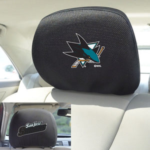 "NHL - San Jose Sharks Headrest Cover 10"" x 13"""