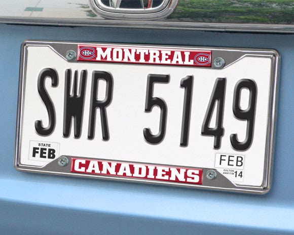 NHL - Montreal Canadiens License Plate Frame 6.25