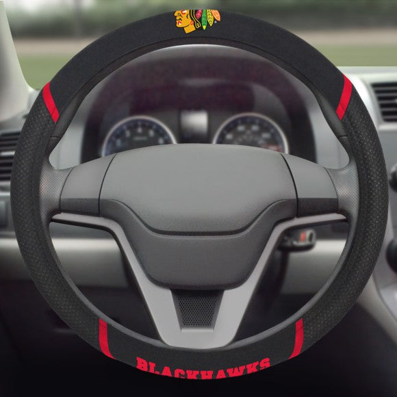 "NHL - Chicago Blackhawks Steering Wheel Cover 15"" x 15"""