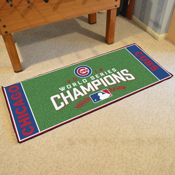 "MLB - Chicago Cubs 2016 World Series Champions Baseball Field Runner 30"" x 72"""