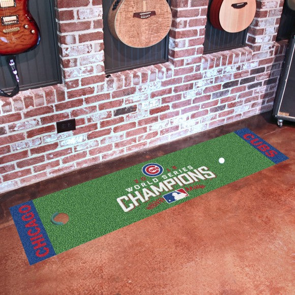 "MLB - Chicago Cubs 2016 World Series Champions Putting Green Mat 18"" x 72"""