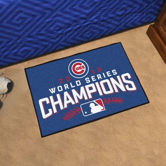 "MLB - Chicago Cubs 2016 World Series Champions Starter Mat 17"" x 27"""