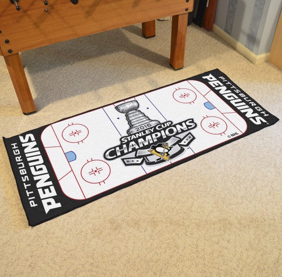 "NHL - Pittsburgh Penguins 2016 Stanley Cup Champions Rink Runner 30"" x 72"""