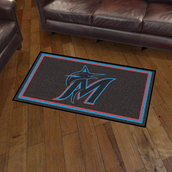 MLB - Miami Marlins 3'x5' Plush Rug 3' x 5'