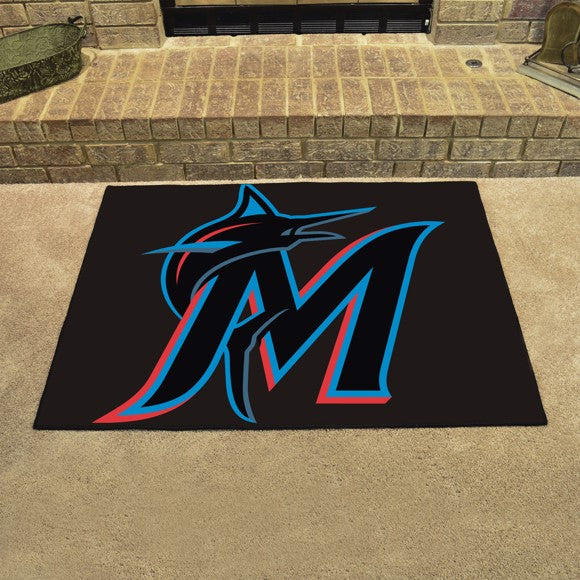 "MLB - Miami Marlins All Star Mat 33.75"" x 42.5"""