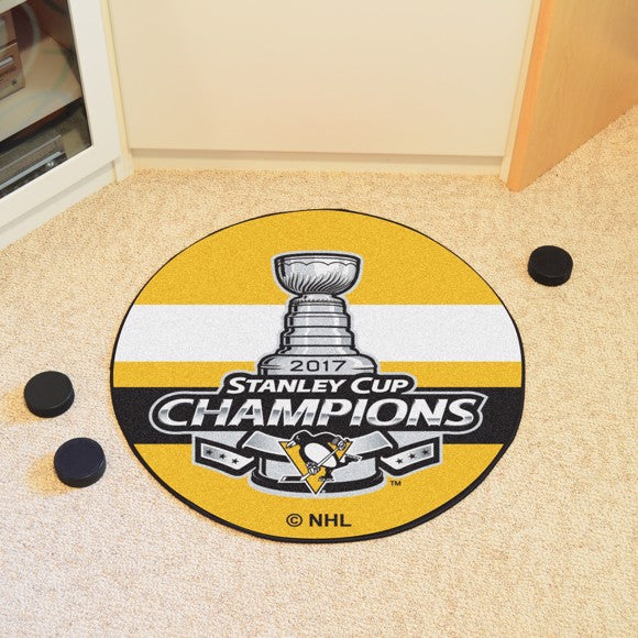 NHL - Pittsburgh Penguins 2017 Stanley Cup Champions Hockey Puck Mat 27""