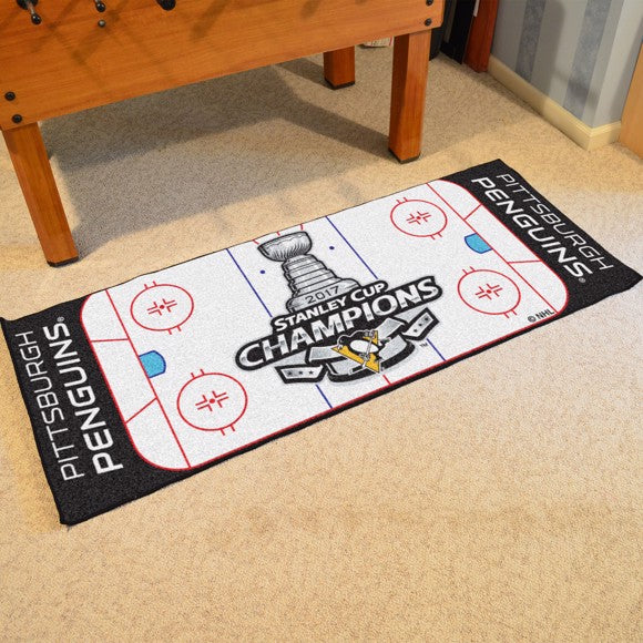 "NHL - Pittsburgh Penguins 2017 Stanley Cup Champions Rink Runner 30"" x 72"""