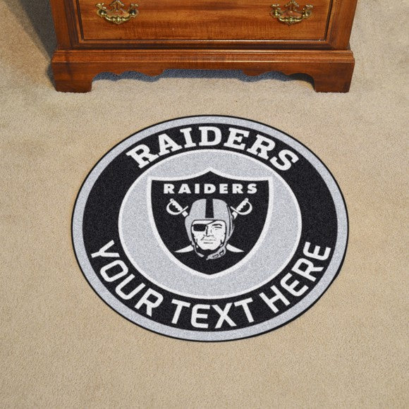 Oakland Raiders Personalized Roundel Mat