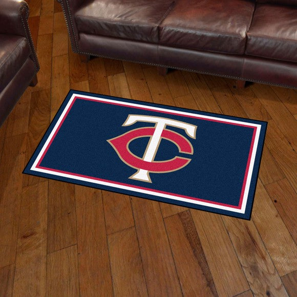 MLB - Minnesota Twins 3'x5' Plush Rug 3' x 5'