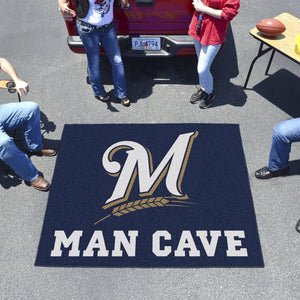 "MLB - Milwaukee Brewers Man Cave Tailgater 59.5"" x 71"""
