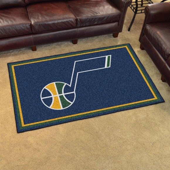 "NBA - Utah Jazz 4'x6' Plush Rug 44"" x 71"""