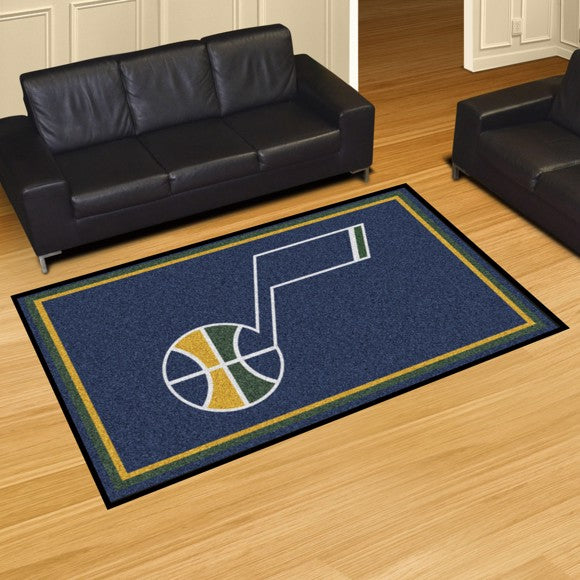 "NBA - Utah Jazz 5'x8' Plush Rug 59.5"" x 88"""
