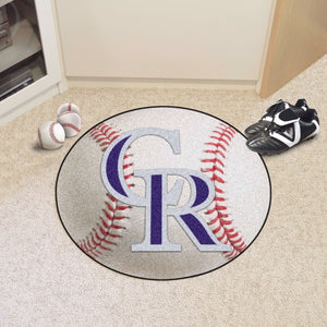 MLB - Colorado Rockies Baseball Mat 27""