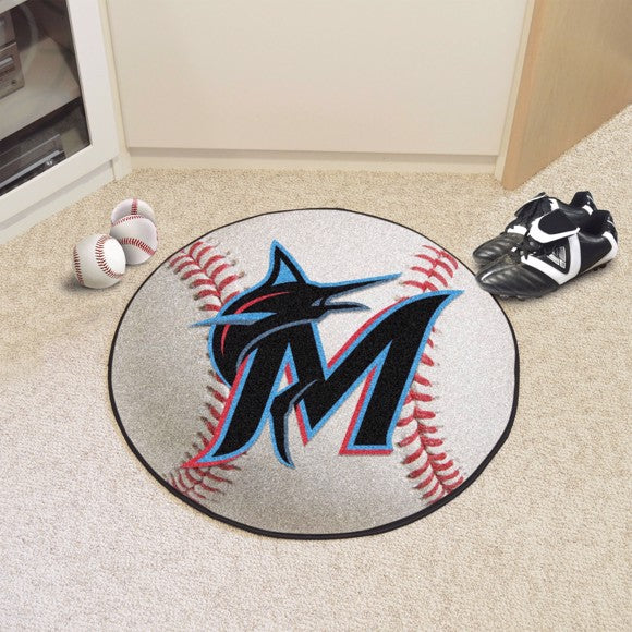 MLB - Miami Marlins Baseball Mat 27""
