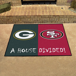 "House Divided Mat 33.75"" x 42.5"""