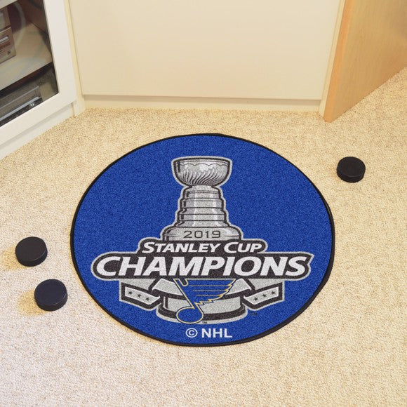 NHL - St. Louis Blues 2019 Stanley Cup Champions Hockey Puck Mat 27""