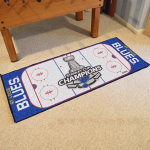 "NHL - St. Louis Blues 2019 Stanley Cup Champions Rink Runner 30"" x 72"""