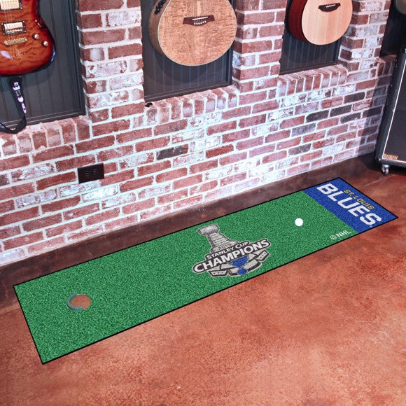 "NHL - St. Louis Blues 2019 Stanley Cup Champions Putting Green Mat 18"" x 72"""