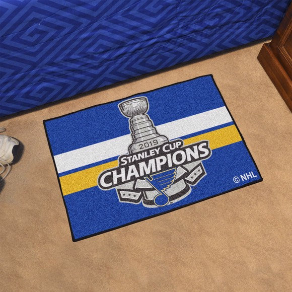 "NHL - St. Louis Blues 2019 Stanley Cup Champions Starter Mat 19"" x 30"""