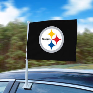 "NFL - Pittsburgh Steelers Car Flag 11"" x 14"""
