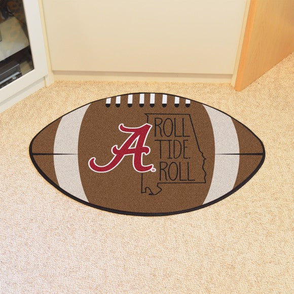 "Alabama Southern Style Football Mat 20.5"" x 32.5"""