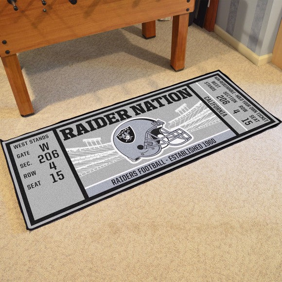 "NFL - Oakland Raiders Ticket Runner 30"" x 72"""