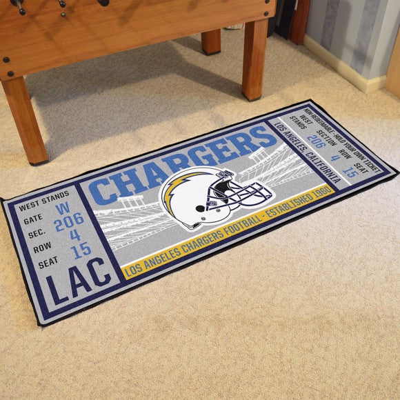 "NFL - Los Angeles Chargers Ticket Runner 30"" x 72"""