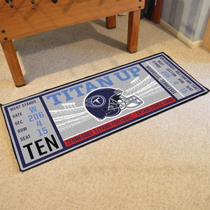"NFL - Tennessee Titans Ticket Runner 30"" x 72"""
