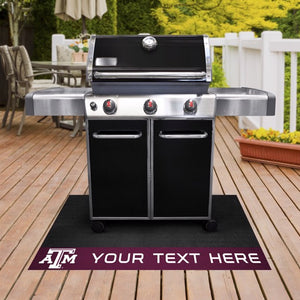 Personalized Texas A&M University Grill Mat