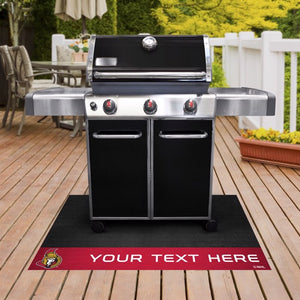 Ottawa Senators Personalized Grill Mat