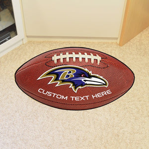 Baltimore Ravens Personalized Football Mat