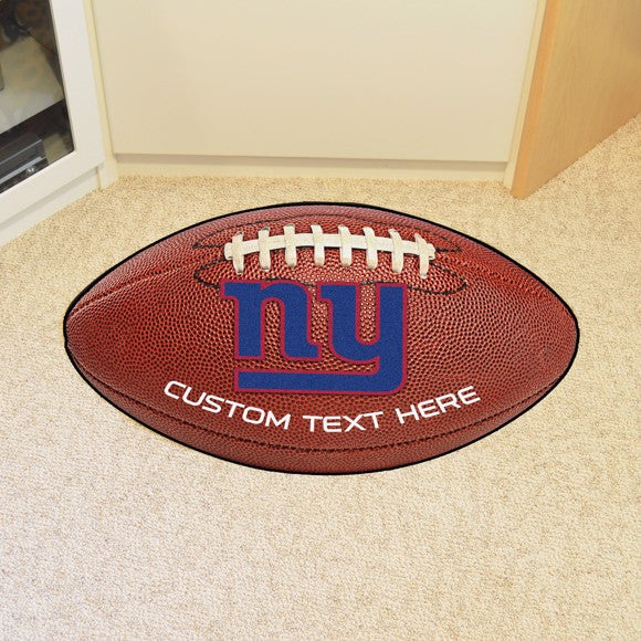 New York Giants Personalized Football Mat