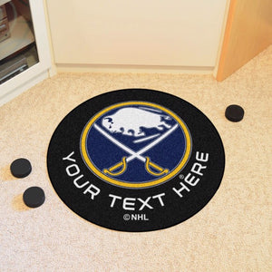 Buffalo Sabres Personalized Hockey Puck Mat