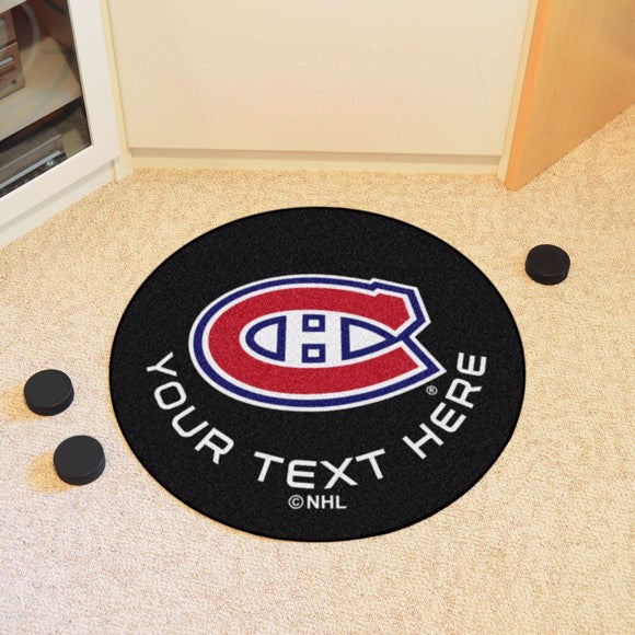 Montreal Canadiens Personalized Hockey Puck Mat