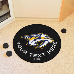 Nashville Predators Personalized Hockey Puck Mat