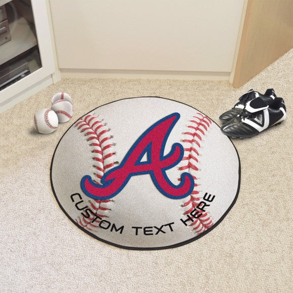 Atlanta Braves Personalized Baseball Mat