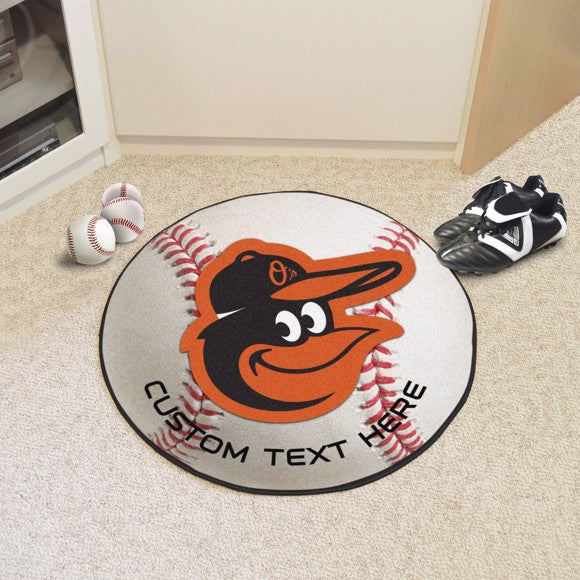 Baltimore Orioles Personalized Baseball Mat