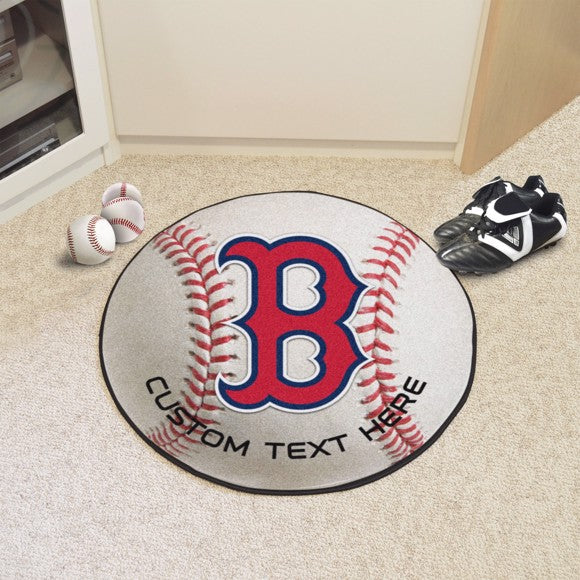 Boston Red Sox Personalized Baseball Mat