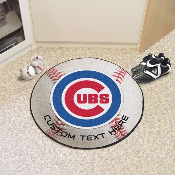 Chicago Cubs Personalized Baseball Mat