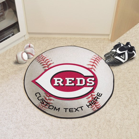 Cincinnati Reds Personalized Baseball Mat