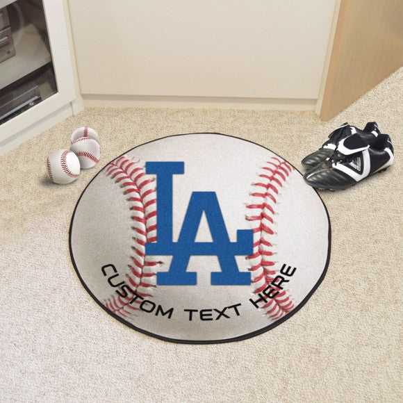 Los Angeles Dodgers Personalized Baseball Mat